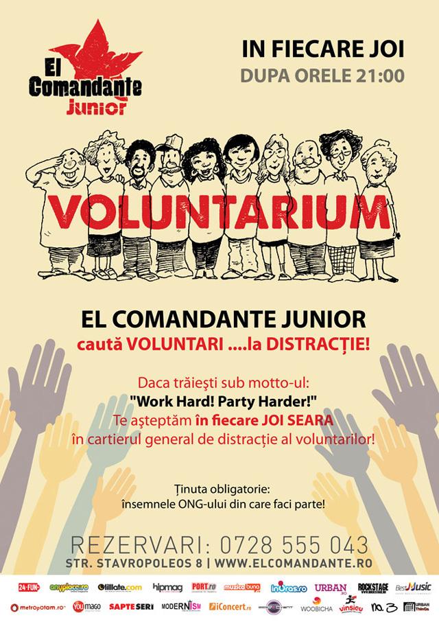 Intră cu legitimația de ONGist în El Comandante Junior București