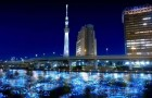 100,000 LED Spheres Flowing Down a Japanese River (4)