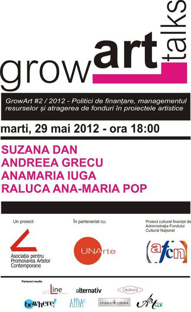 GrowArt Talks, programul de conferinte pe teme de arta contemporana, management cultural si politici de finantare, editia a doua