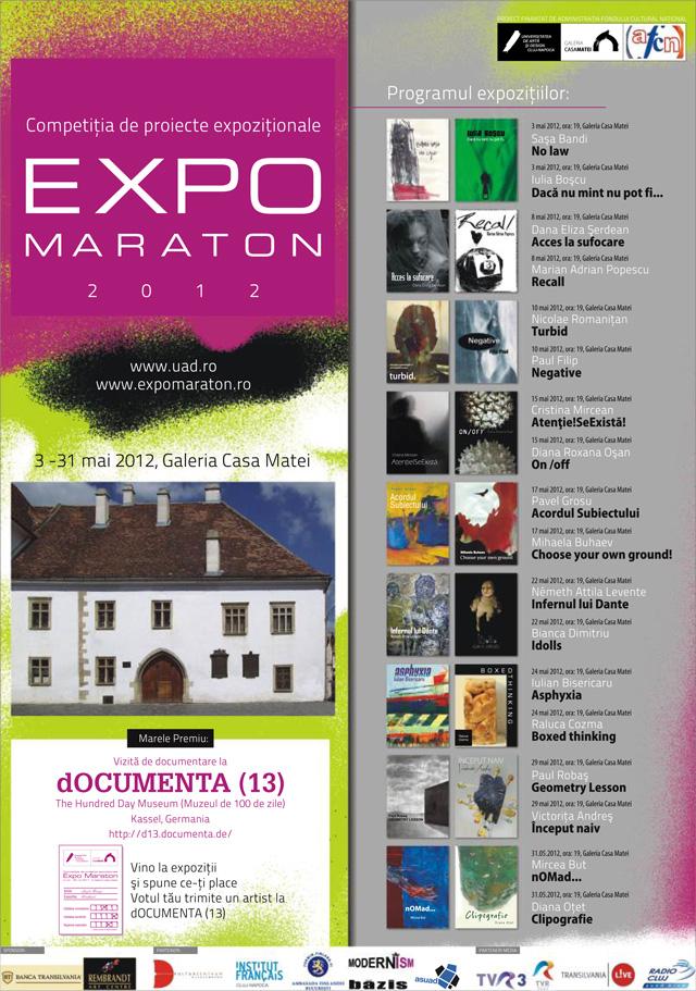 """Competiţia de Proiecte Expoziţionale """"Expo Maraton 2012"""" @ Galeria Casa Matei, Cluj-Napoca"""