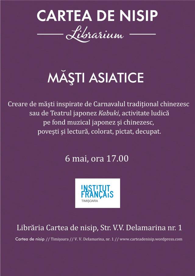 Măști asiatice la Timișoara
