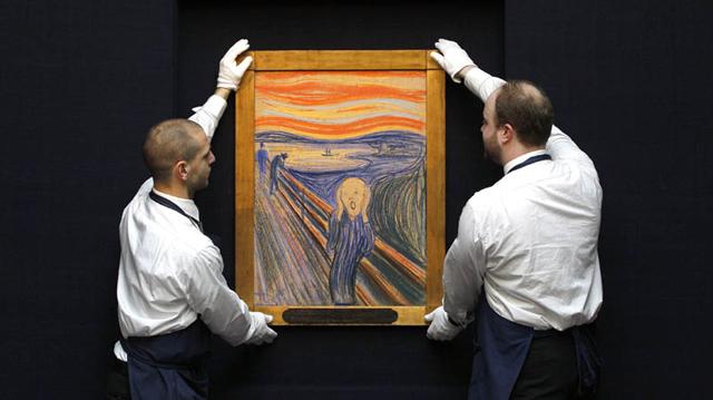 """""""The Scream"""" al lui Edvard Munch, vândut cu suma record de 120 milioane dolari la licitația Sotheby`s"""