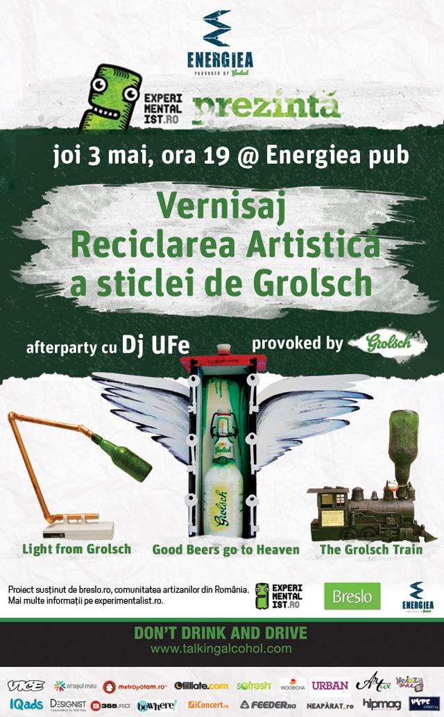 Vernisaj Reciclarea artistica | provoked by Grolsch