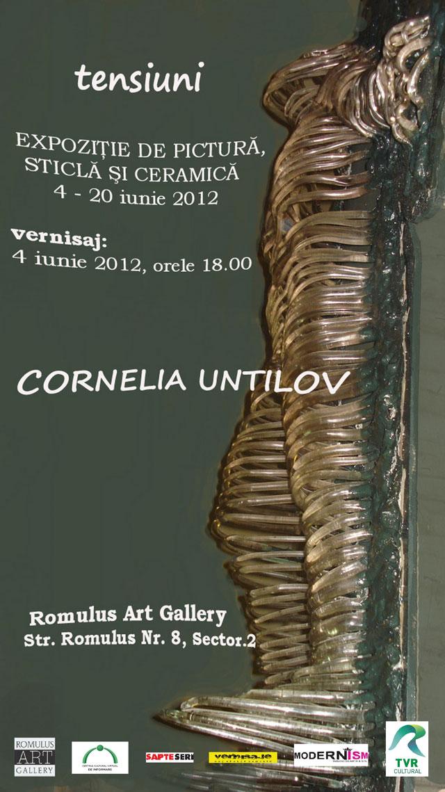 """Cornelia Untilov """"Tensiuni"""" @ Romulus Art Gallery, București"""