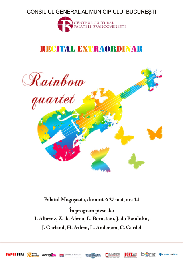 Recital de tangouri celebre susținut de grupul RAINBOW QUARTET @ Palatul Mogoşoaia