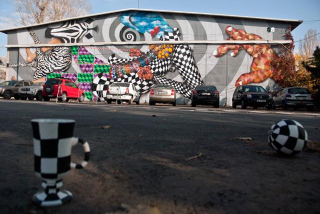 Allan Dalla, unul dintre cei mai activi și inventivi street-artiști români