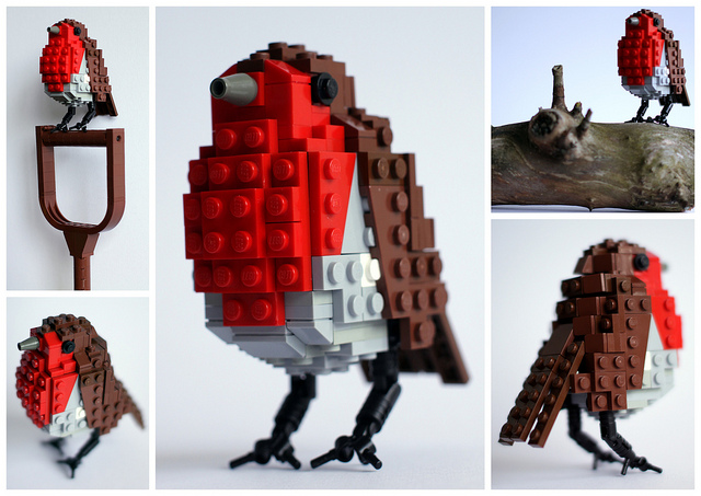 British Birds Made of LEGO