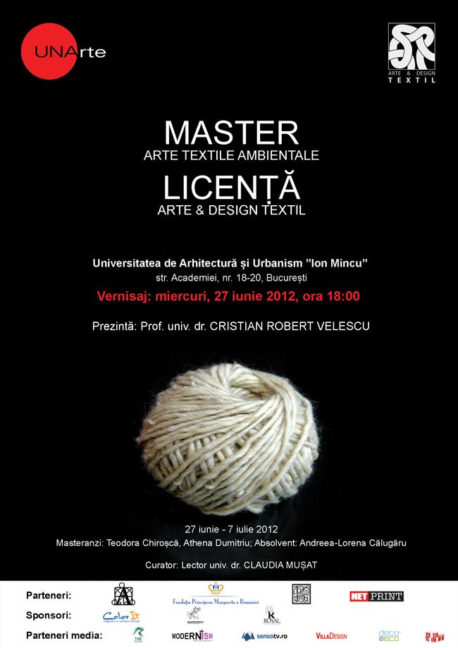 Licenţa Arte & Design Textil / Master Arte Textile Ambientale 2012