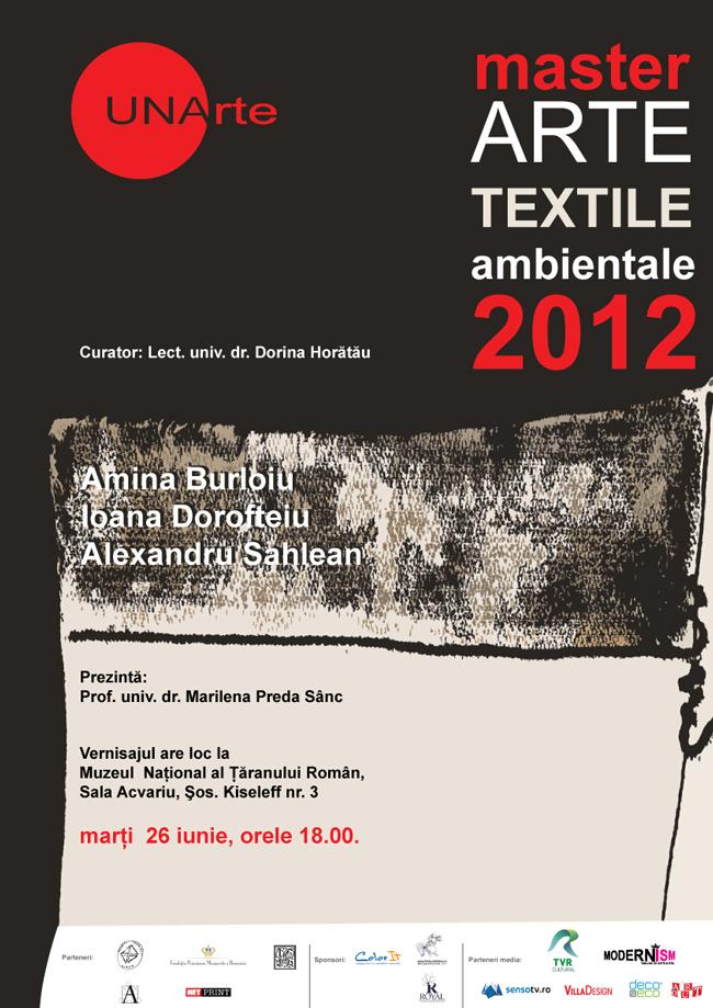 Master Arte Textile Ambientale 2012 @ Muzeul National al Ţăranului Român
