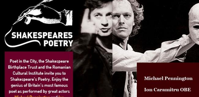 La invitația ICR, Ion Caramitru, directorul general al TNB, va da glas lui Shakespeare la Londra, și lui Eminescu în SUA