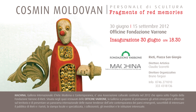 "Cosmin Moldovan ""Fragments of red memories"" @ Machina Gallery, Rieti, Italy"