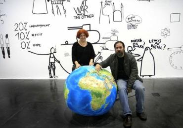 Dan şi Lia Perjovschi la WIDE OPEN SCHOOL (Londra)