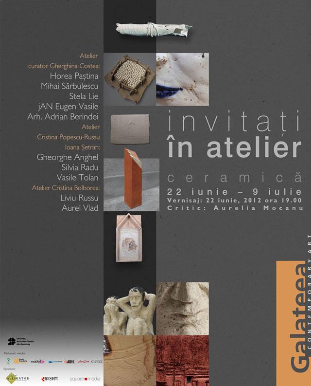 """Expoziţia de ceramică """"Invitaţi în atelier"""" @ Galeria Galateea, București"""