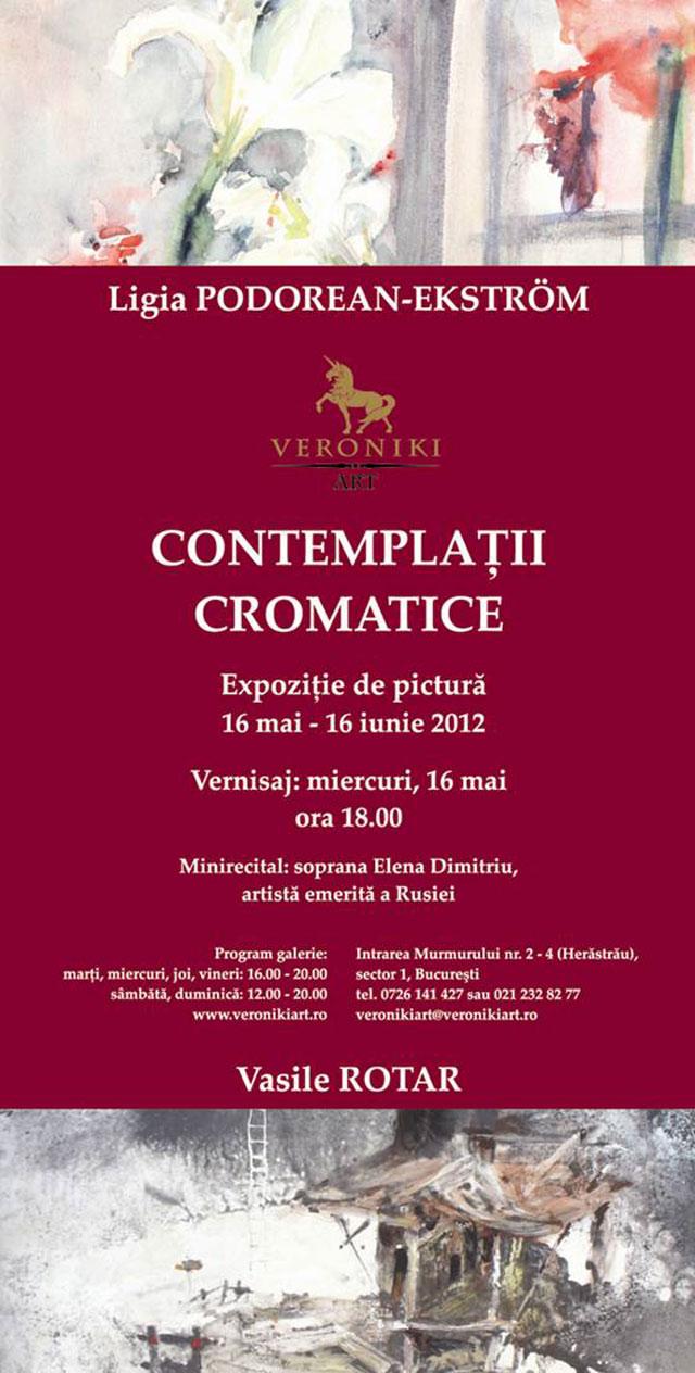 """Ligia Podorean-Ekström & Vasile Rotaru """"Contemplaţii cromatice"""" @ Galeria Veroniki Art, București"""