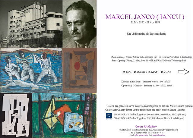 """""""Marcel Iancu – un vizionar al artei moderne"""", cea mai mare expoziţie din România dedicată lui Marcel Iancu"""