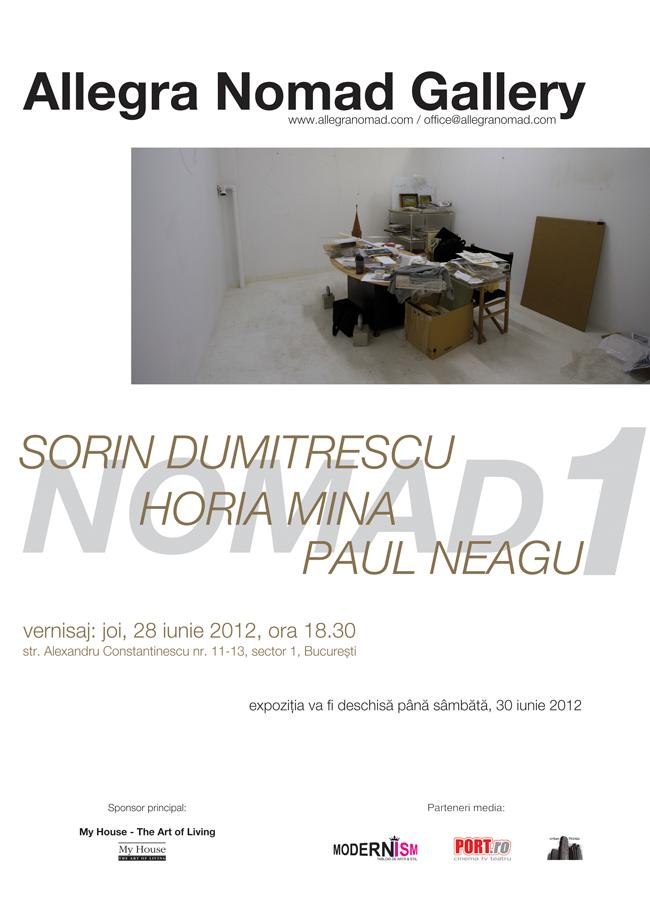 Sorin Dumitrescu, Horia Mina, Paul Neagu @ Allegra Nomad Gallery, București
