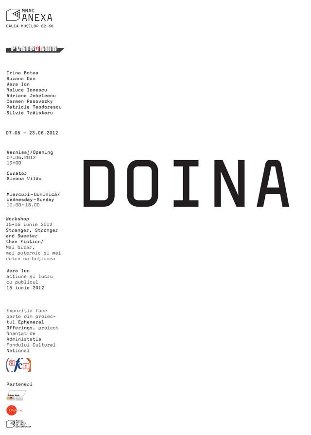 """""""Doina"""" la spațiul Platforma (în cadrul Anexa MNAC, București)"""