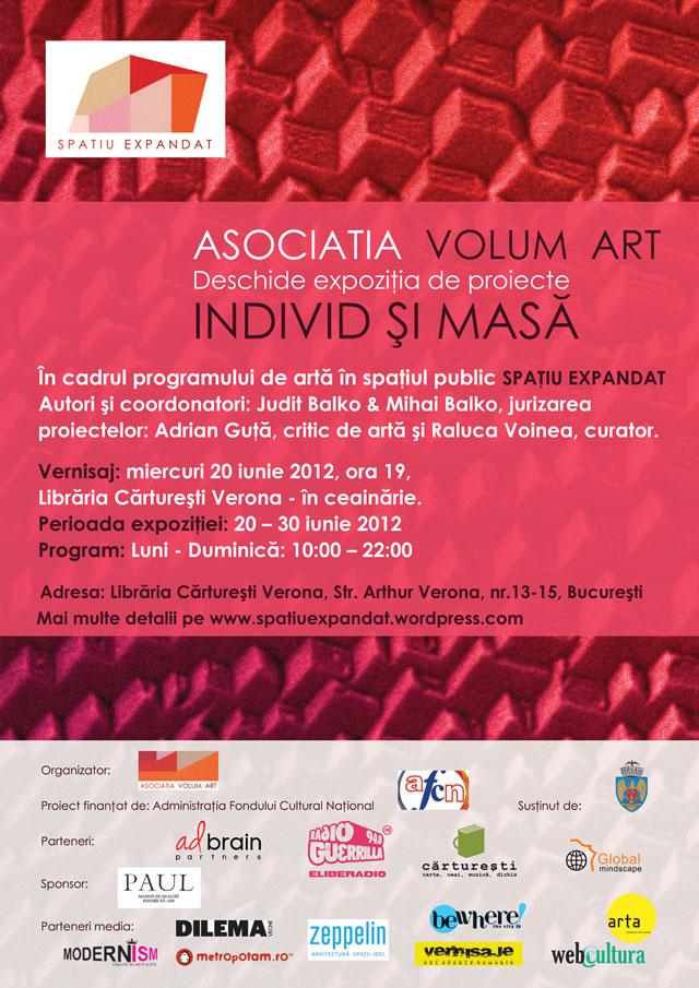 """Expoziţia de proiecte """"Individ şi masă"""" @ Librăria Cărtureşti Verona"""