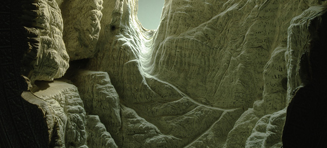 More Carved Book Landscapes by Guy Laramee