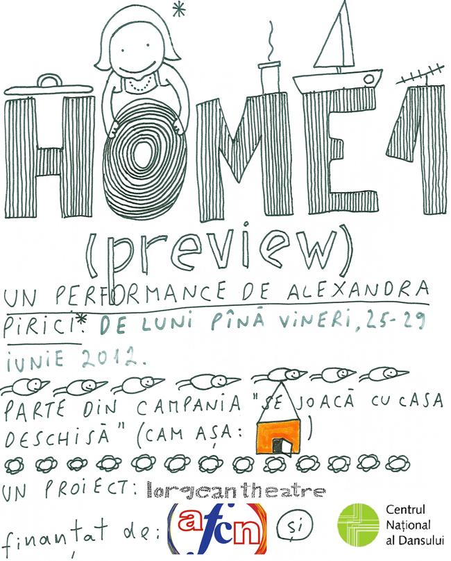 """Home 1"", un performance de Alexandra Pirici, proiect lorgean theatre"