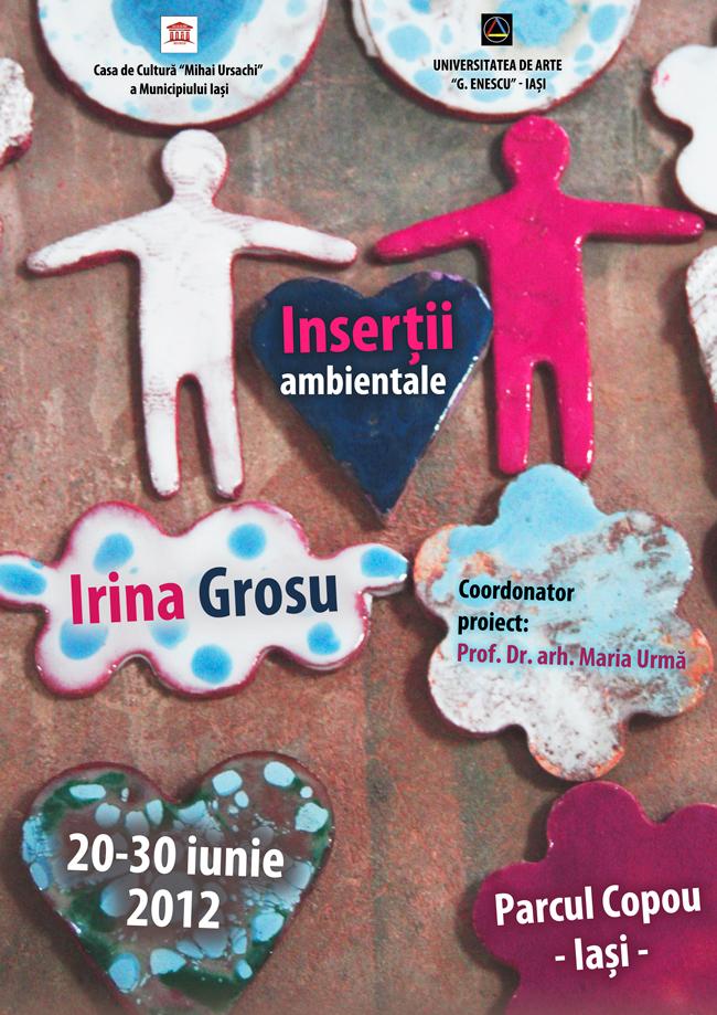 """Irina Grosu, """"Inserții ambientale"""" asamblu de mobilier urban @ Parcul Copou, Iași"""