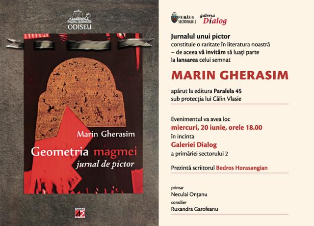 Lansare jurnalul lui Marin Gherasim la Galeria Dialog, București
