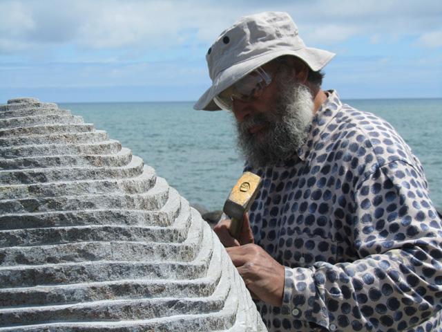 Gheorghe Zaharia @ Simpozionul de Sculptura in Noua Zeelanda