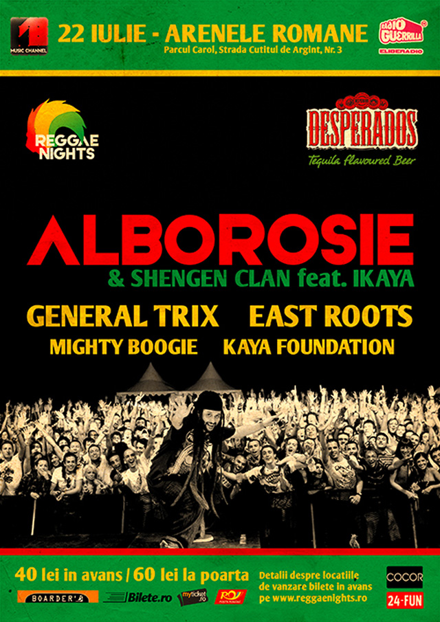 Alborosie live in premiera in Romania, cel mai tare eveniment reggae al anului!
