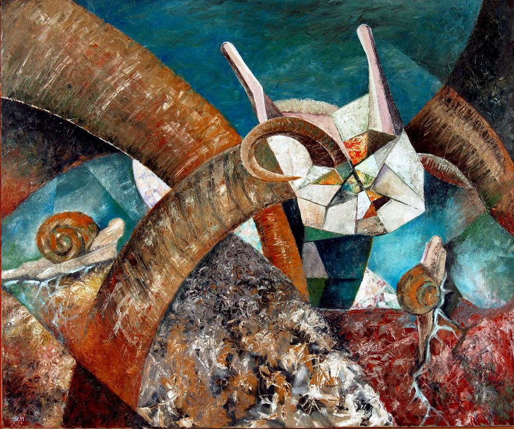 Berbelci - ulei-pânză, 100 x 120 cm. 2011