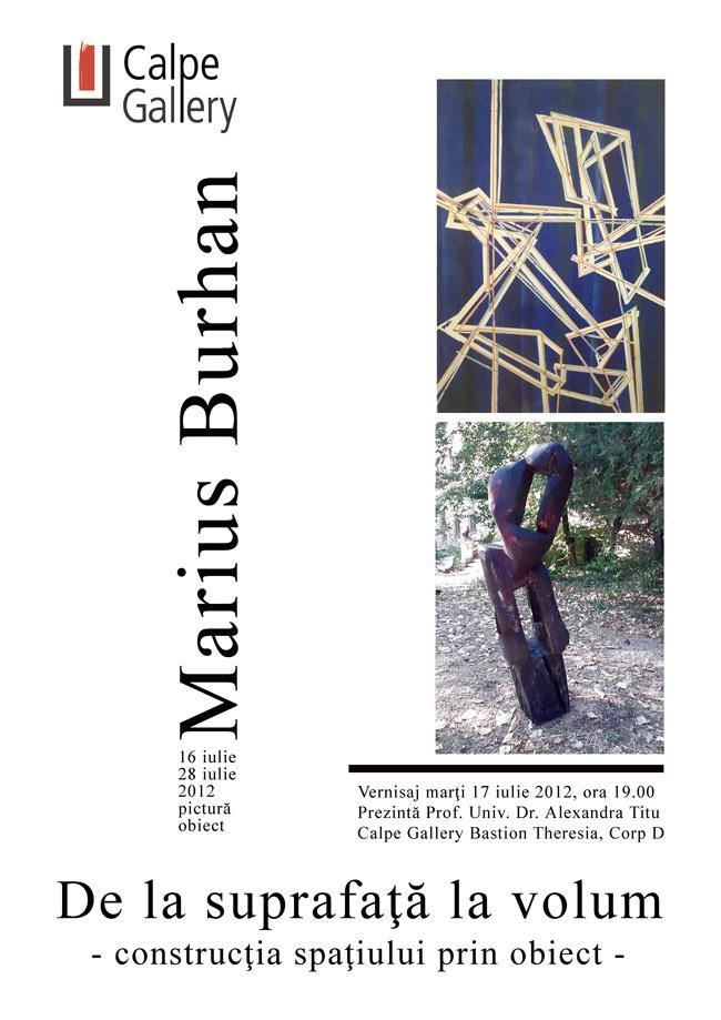 """Marius Burhan """"De la suprafaţă la volum"""" @ Calpe Gallery, Timișoara"""