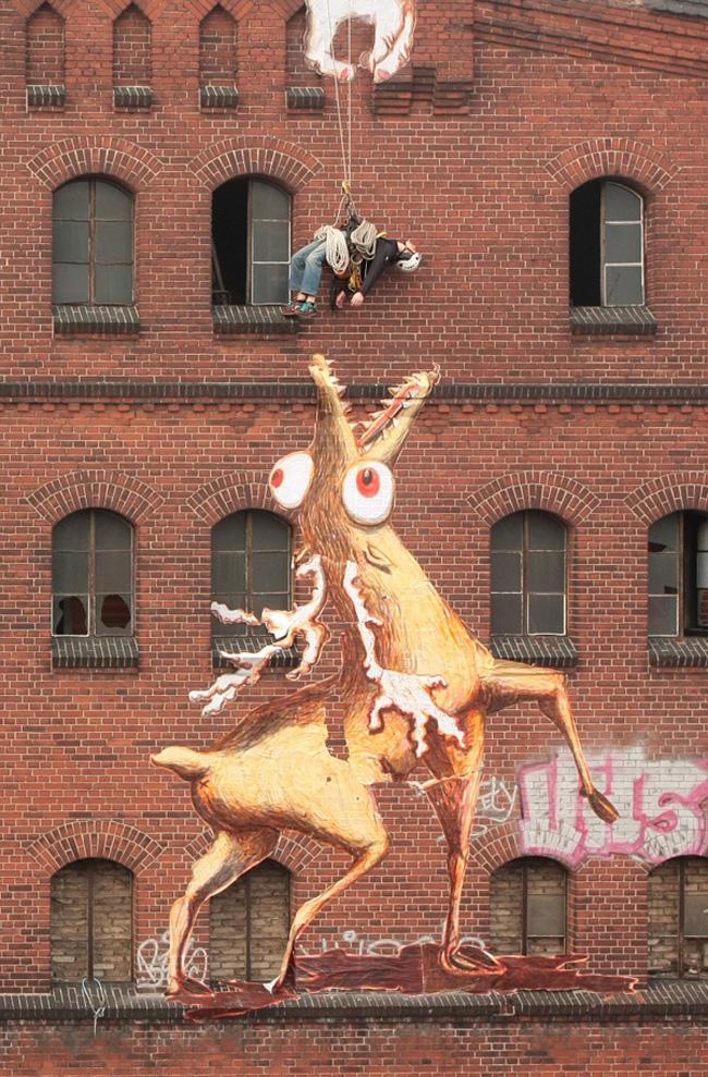 Animae Dementia: Mystical Paper Beasts Devour Unsuspecting Street Artists