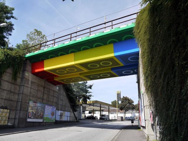 Giant Lego Bridge in Germany by Street Artist Megx
