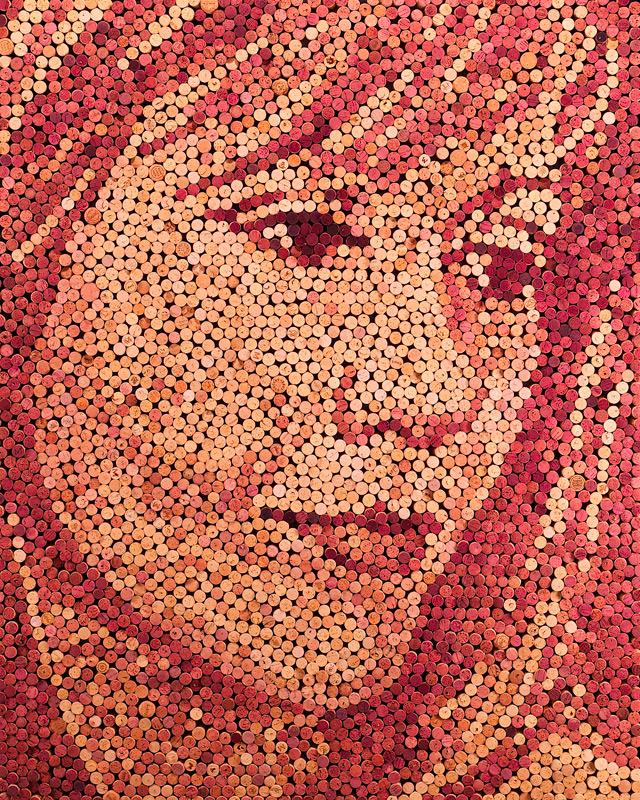 Wine Cork Portraits by Scott Gundersen