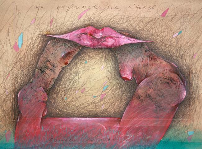 Grafica lui Aurel Bulacu la palatul Mogoşoaia