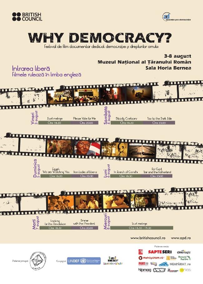 Festival de film documentar dedicat democraţiei şi drepturilor omului