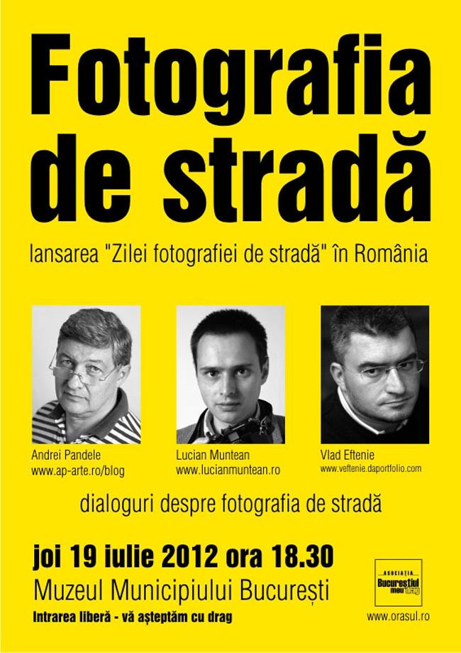 """Lansare """"Ziua Fotografiei de stradă"""""""