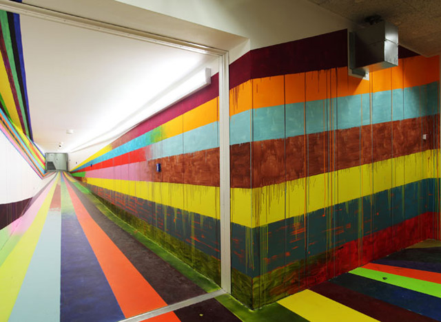 Visitors Tunnel at the JVA/Prison in Düsseldorf by Markus Linnenbrink