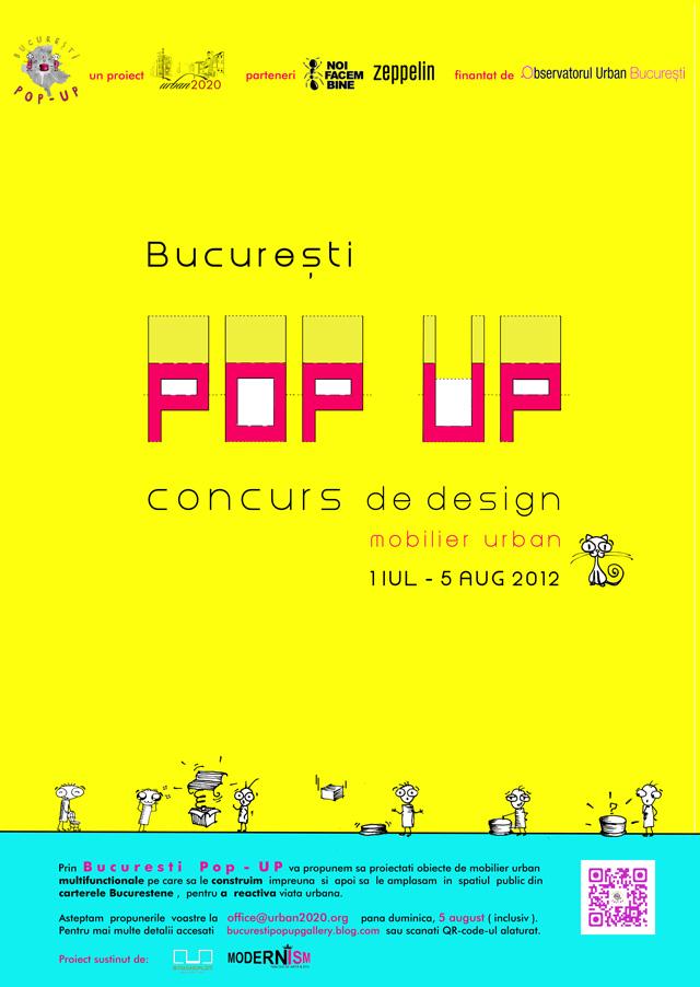 București Pop-UP: Concurs de design pentru studenți și tineri absolvenți creativi