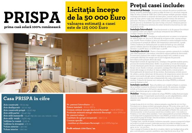 Casa de licitaţii Goldart va invită să licitați pentru PRISPA prima casă solara 100% românească