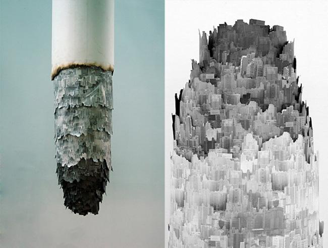 Cigarette Ash Landscape