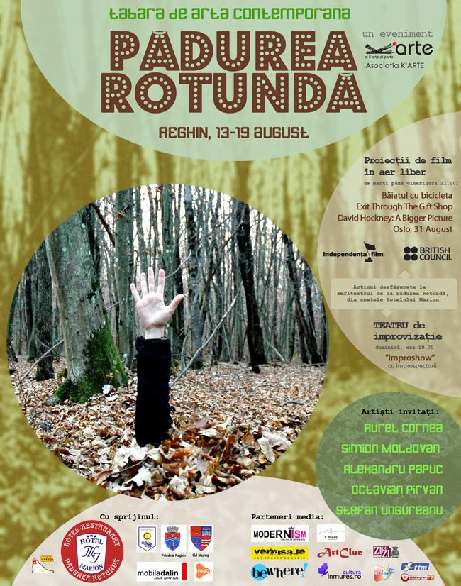 """Tabăra de artă contemporană """"Pădurea Rotundă"""" Reghin 2012"""