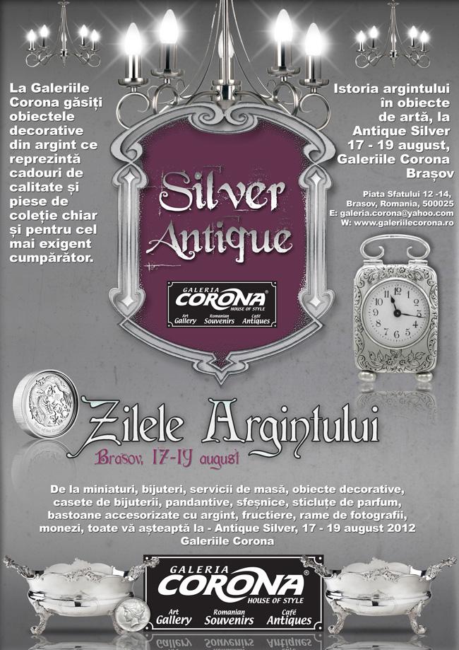Silver Antique – Zilele Argintului la Brașov, 17/19 august