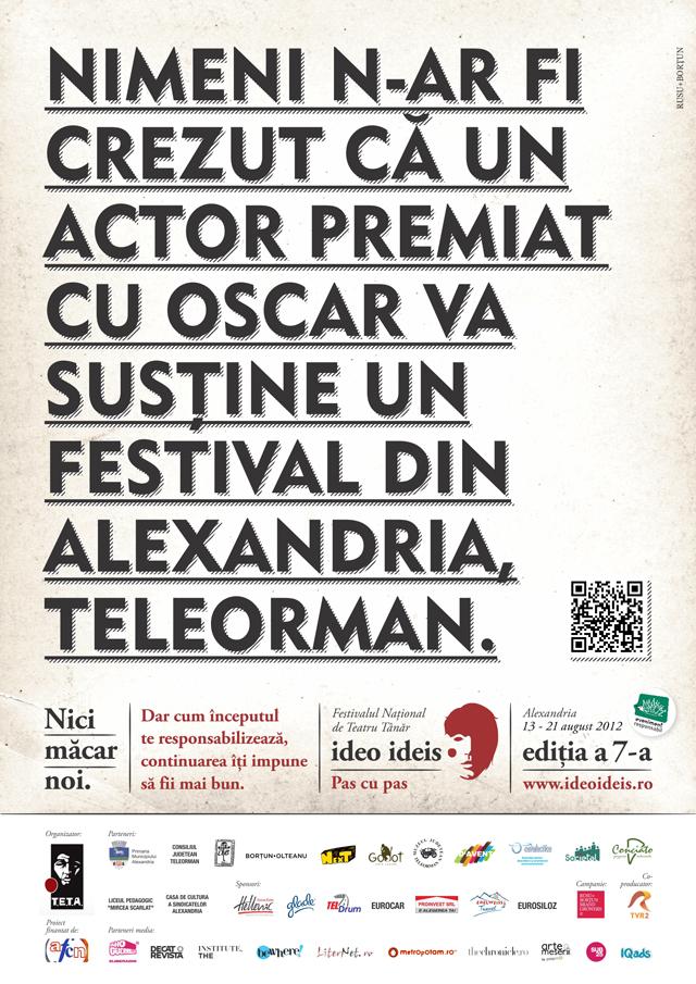 Ideo Ideis, Festivalul Naţional de Teatru Tânăr ediția a șaptea @ Alexandria, România