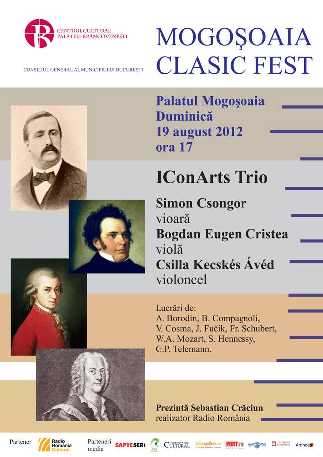 Muzica lui Mozart va răsuna la Palatul Mogoşoaia