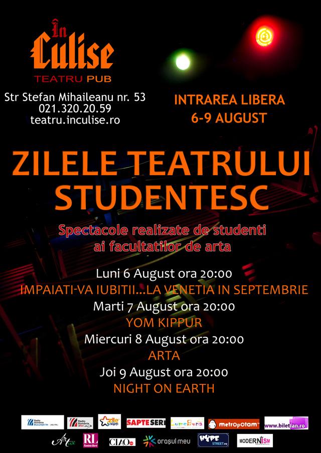 Zilele Teatrului Studențesc In Culise