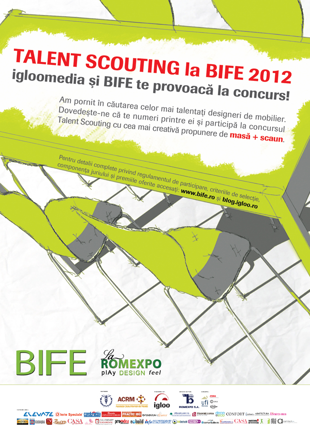Talent Scouting, concurs de design de mobilier @ Igloo Media și BIFE