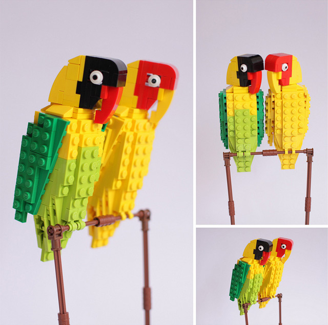 Tropical Lego Birds