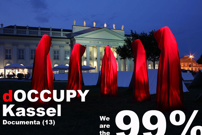 "Occupy Kassel ""Documenta City"" – Time guards by Manfred Kielnhofer"