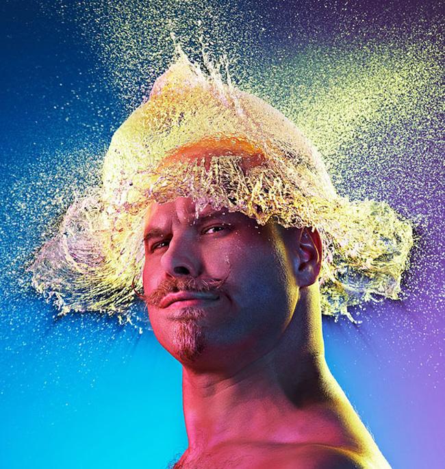 Hilarious Water Wigs by Tim Tadder