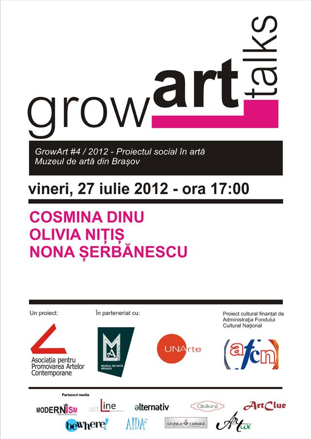 GrowArt Talks 4, serie de conferințe naționale pe teme de artă, management și politici culturale